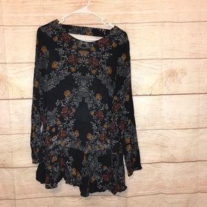 Free people size medium paisley mini dress